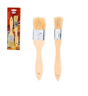 Brush 2pc set wood                                           643700232274