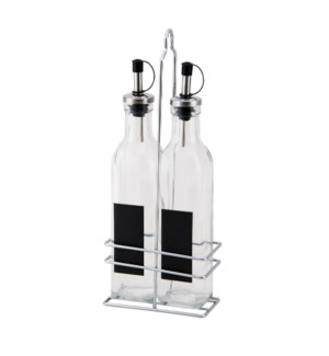 Oil dispenser 2pc 9.5Oz with Iron stand                      643700233264