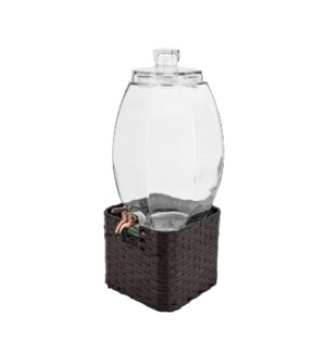 Glass dispenser 10L with ice infucer, CP stand, antique copp 643700235749