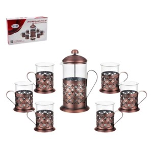 Coffee, Tea Press 7pc set SS, 1L Borosilicate Glass pot and  643700239969