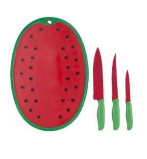 Knife 4pc set Nonstick coating, with Water Melon shape PP Cu 643700240590