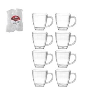 Mug 8pc set Plastic 4oz                                      643700240750