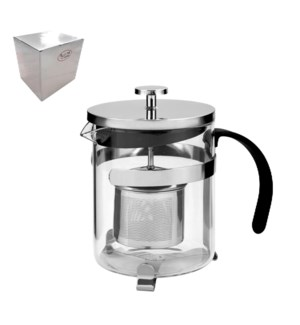 Coffee and Tea Plunger 0.8L Borosilicate Glass and SS        643700240804