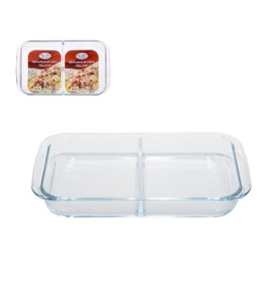 Baking Tray 2 section Glass 2.9L, Rectangular                643700241511