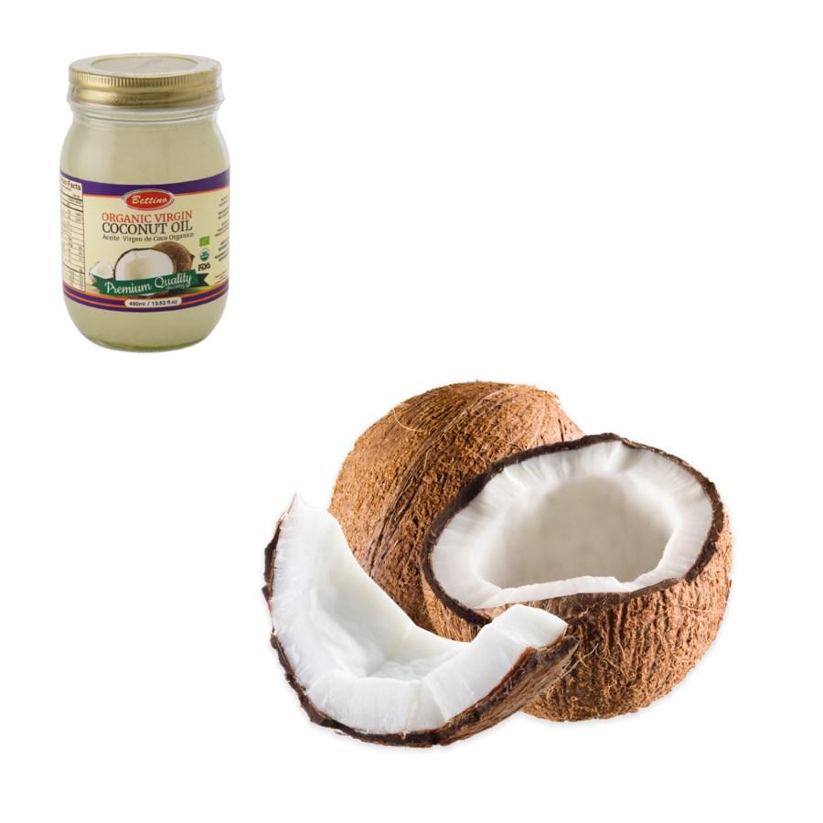 Organic Virgin Coconut Oil Glass 400mL Bettino               643700246240