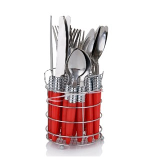 Cutlery 20pc Set SS with Basket                              643700251008