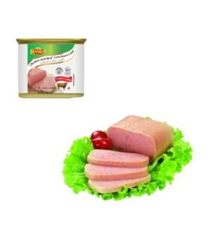 Chicken and Beef Luncheon Loaf (Halal) 12oz Al Mashrek       643700251381