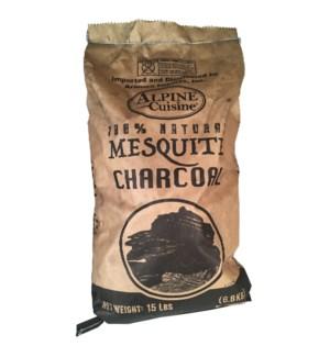 Mesquite Charcoal 100% 15lb, 6.8kg                           643700251510