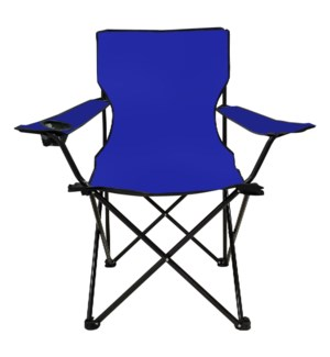 Folding Arm Chair with cup holder blue 21x21x17in, 36in      643700251909