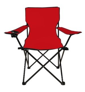 Folding Arm Chair with cup holder Red 21x21x17in, 36in       643700251893