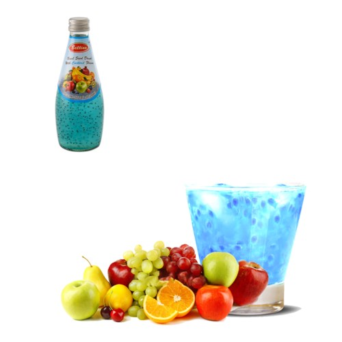 Basil Seed Drink Cocktail Flavors Glass 290mL Bettino        643700259677