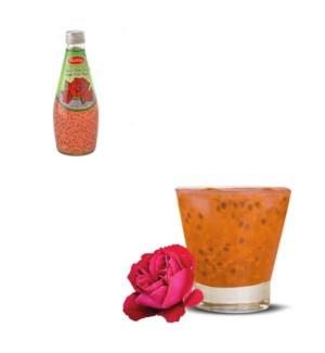 Basil Seed Drink Rose Flavors Glass 290mL Bettino            643700259684