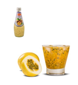 Basil Seed Drink Passion Fruit Flavors Glass 290mL Bettino   643700259691