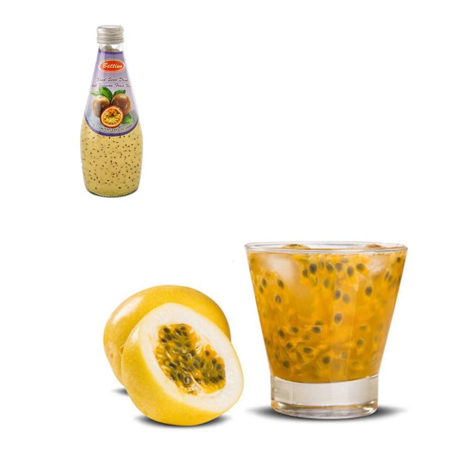 Bettino Passion Fruit Basil Seed Drink 9.8floz 290ml         643700259691