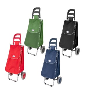 Shopping Cart with Bag 14x10x37in 4colors-4Blk,2-bl,2re,2gr  643700260482