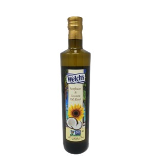 Sunflower and Coconut Oil Blend 750ml Welch SL:2yrs          643700263018