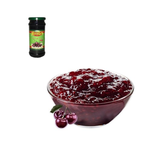 Vechana Cherry Jam Glass 450g Al Mashrek                     643700263230