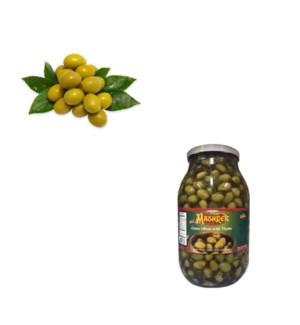 Green Olive with Thyme Glass 3kg Al Mashrek                  643700263247