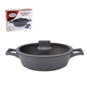 Low Pot Cast Aluminum 11in, Nonstick with Marble Coating, In 643700263476