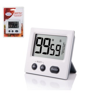 Digital Timer Plastic 3.5x3x1in with Magnet, AAA battery req 643700264497