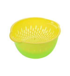 Colander PP 10x9x5in with Basin Green                        643700266200