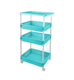 Rack 4 Tier PP 19x12.5x40in Blue                             643700266217