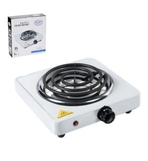 Electric Single Plate Burner 6in 1000w, 120V, 60Hz White     643700266781