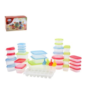 Food Container 66pc Set PP Assorted. Color                   643700268617