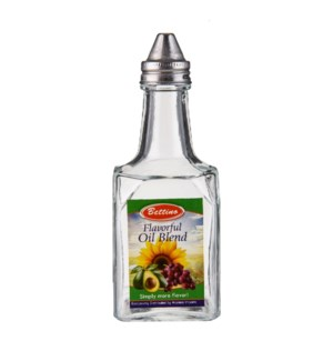 Oil Bottle Glass 5.5oz Bettino                               643700271099