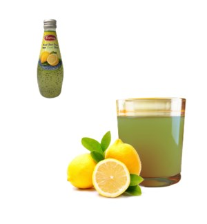 Basil Seed Drink Lemon Flavors Glass 290mL Bettino           643700271297