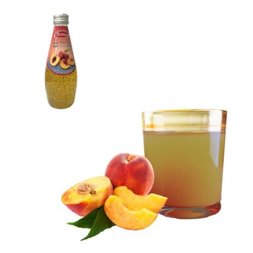Basil Seed Drink Peach Flavors Glass 290mL Bettino           643700271303