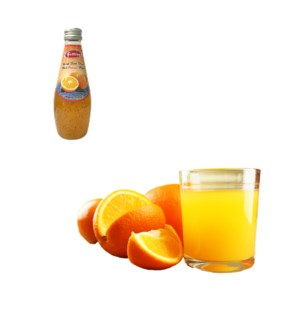 Basil Seed Drink Orange Flavors Glass 290mL Bettino          643700271310