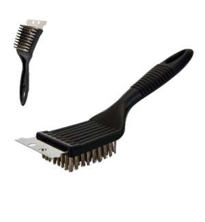 BBQ Brush 8in SS with PP Handle                              643700274564