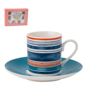 Coffee Cup and Saucer 6 by 6, 4Oz New Bone China             643700276087