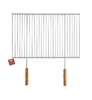 Removable Barebecue Grill with Wood Handles 23x16in          643700276230