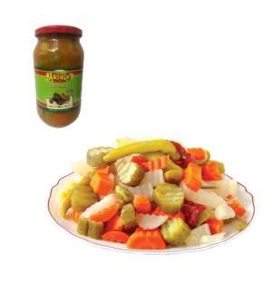 Anba Pickles (Spicy) Glass Jar 1000g Al Mashrek              643700278890