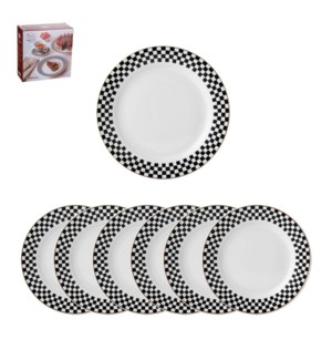Dessert Plate 7pc Set, 10.5in, 7.5in Porcelain, Monacco      643700280183