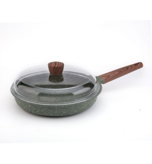 FryPan Cast Aluminum 11in Nonstick with Marble Coating and W 643700281449