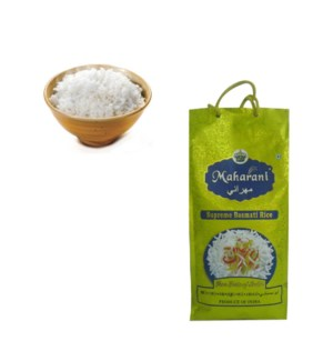1121 Raw Aged Basmati Rice 10lb in Bag Maharani Supreme      890600059411