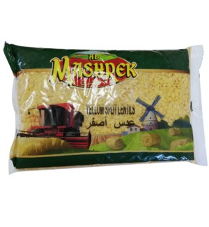 Yellow Split Lentil in Bag 2lb Al Mashrek                    64370028375