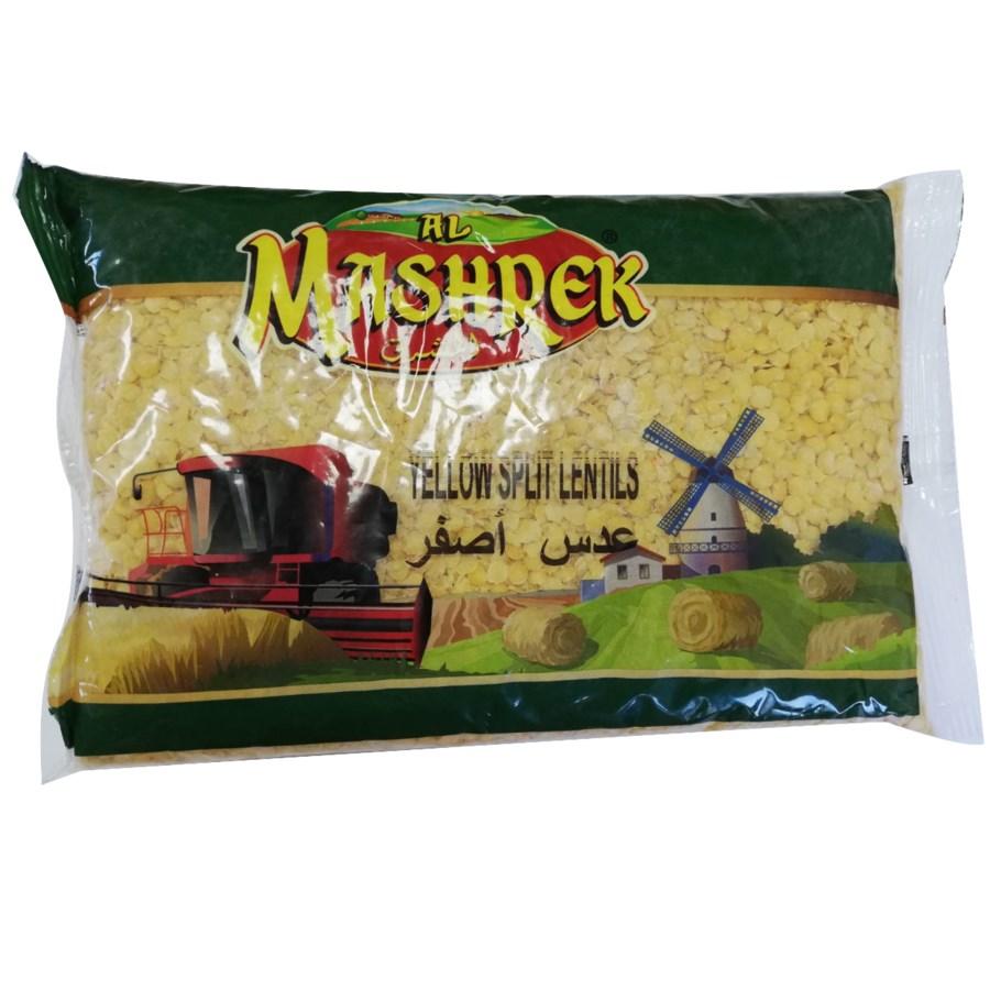 Yellow Split Lentil in Bag 2lb Al Mashrek                    64370028375