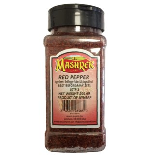 Red Pepper Flakes 200g Plastic Jar                           64370028383