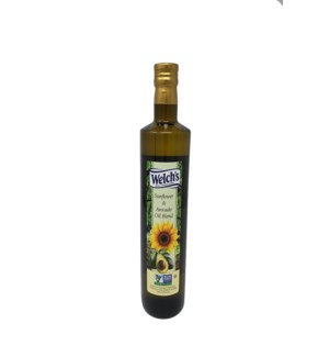Sunflower and Avocado Oil Blend 750mL Glass Welch's          64370028401