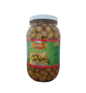 Green Olives with Lemon 2000g Al Mashrek                     643700284136