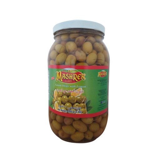 Green Olives with Lemon 2000g Al Mashrek                     643700284136