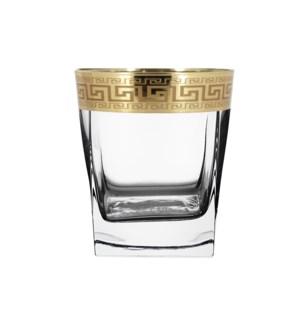 Shot Glass 6pc 1.70  oz  Set Gold Baroque Pattern            64370028455
