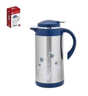 Vacuum Flask 1L SS with PP Lid and Handle and Base           643700284860