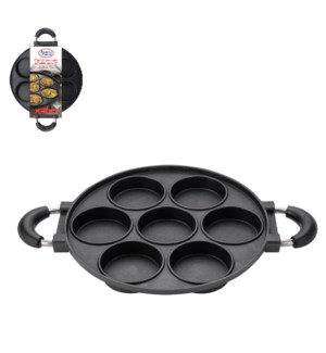 "Cast Alum. Omelet Pan 11"" Non-Stick Coating Black            643700291820"