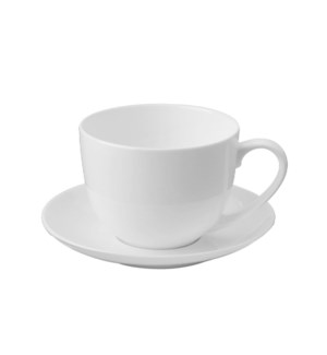 Tea Cup and Saucer 6 by 6,8Oz,Bone China                     643700293190