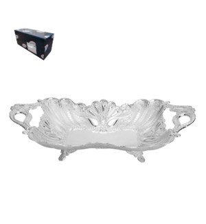 Fruit Bowl 14in Shiny Silver Plated                          643700293695